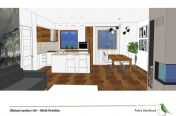 Obývací pokoj s kk, Malá Hraštice, 2015